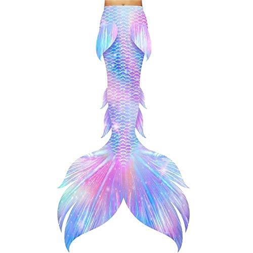 Traje De Bano Sirena for Niñas,Nadar Princesa Bikini Conjunto De Traje De Sirena,Tamaño Personalizado Traje de baño Princesa Sirena (Color : Style B)