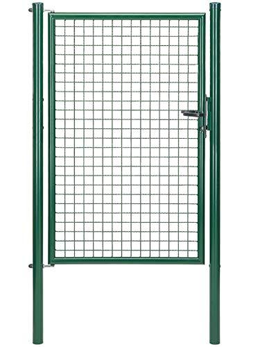 GAH-Alberts 600303 Wellengitter-Einzeltor mit Zubehör | verschiedene Breiten und Höhen - wahlweise in verschiedenen Farben | grün | Breite 100 cm | Höhe 150 cm