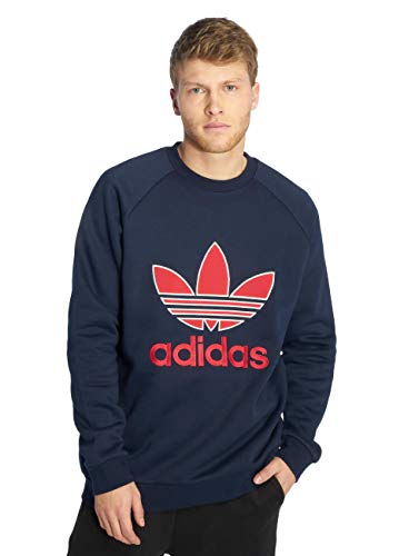 adidas Originals Men's Trefoil Crew Neck Sweatshirt Collegiate S Blue