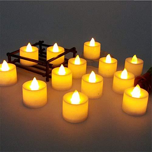 GKJRKGVF 24 stuks kaarslicht kleurrijke romantische elektronische kaars LED-licht voor feestjes versieren bruiloft decoratie kaarslicht