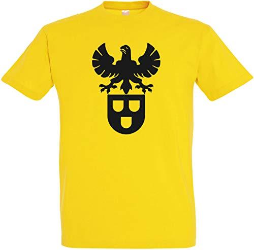 Herren T-Shirt Maler Zunftwappen S bis 5XL (Gelb, 5XL)