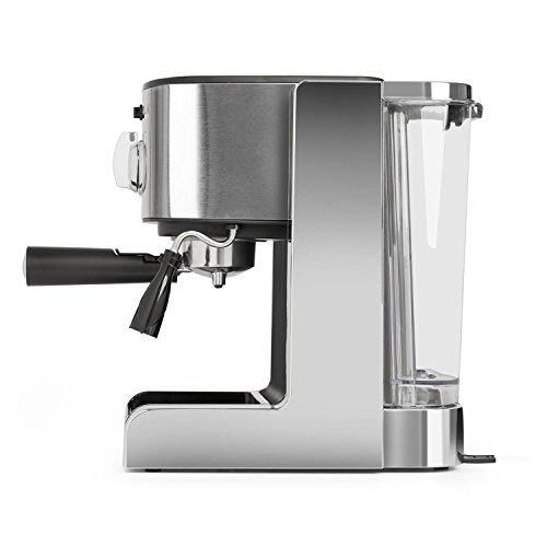 Klarstein Passionata Rossa 15 - Machine à expresso, 1470 W, 15 bars de pression, 1,25 L (6 tasses),...