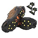 Crampones para escalada en nieve, materiales de alta calidad Puntas de calzado antideslizantes Gran practicidad para montañismo para actividades de senderismo(XL)