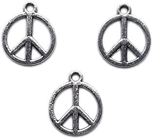 sold Excellence out Beading Station 20pcs Tibetan Silver Logo ~Jew Peace 16mm Charms