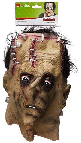 Smiffys-24090 Halloween Careta de Monstruo, para la Cabeza, látex, Color marrón, Tamaño único (Smiffy'S 24090)