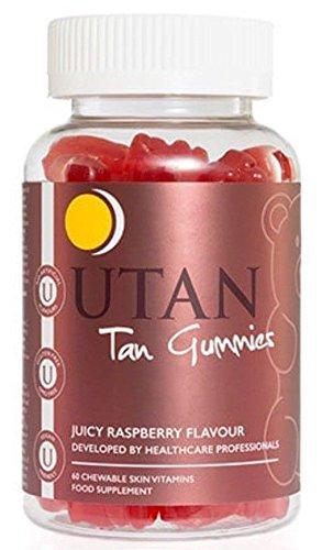 UTAN & Tone UT-TAN-GUM-60 Vegan Tan Gummies Highest 3x Strength To Alternative Tanning Vitamins