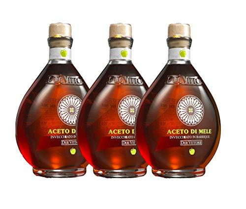 3 bottiglie di Aceto di Mele Due Vittorie Invecchiato in barrique 500ml (1500ml)