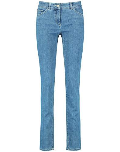 Gerry Weber Damen Figurformende Hose Best4me schmale Passform Blau Denim 36