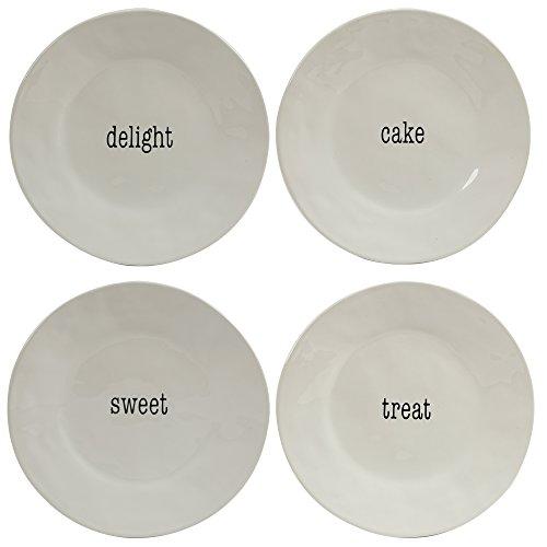 Certified International Corp It's Just Words 9' Salad/Dessert Plates, Asst. Designs, Set of 4, Multicolor