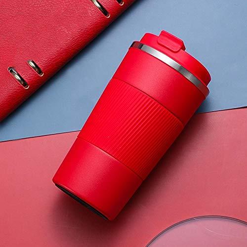 Jusemao Botella de agua para coche de 510 ml de estilo simple atmosférico con tapa de rebote adecuada para el hogar y la oficina Roja_510 ml