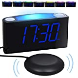 Loud Vibrating Alarm Clock Bed Shaker for Bedrooms Home Kitchen Desk, Heavy Sleepers Deaf Seniors...