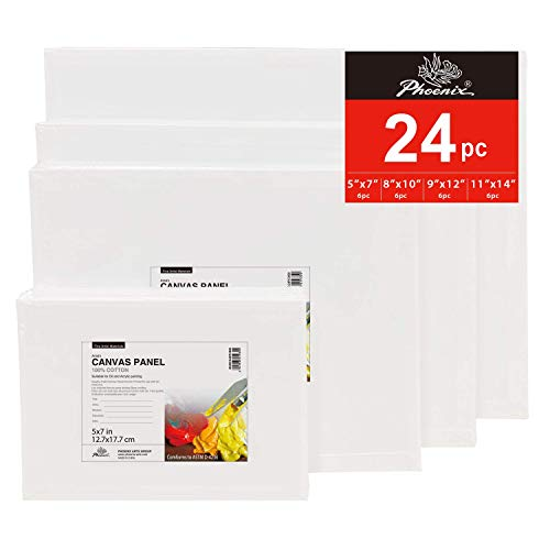 PHOENIX Painting Canvas Panel Boards Multi Pac