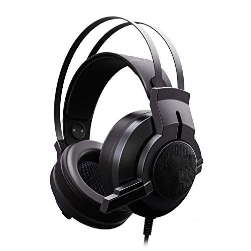 ZHHk USB 7.1 Surround Sound Vibration Game Gaming Headphone Computer Headset Earphone Headband With Microphone HiFi Headphones (Color : B)