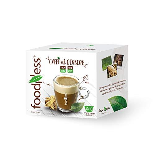 FOODNESS 120 CAPSULE CAFFE AL GINSENG COMPATIBILI DOLCE GUSTO SENZA GLUTINE E LATTOSIO