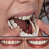 FDCJK Teeth Whitening Fake Tooth Cover Snap on Silicone Perfect Smile Veneers Teeth Top and Bottom Beauty Tool Cosmetic Teeth