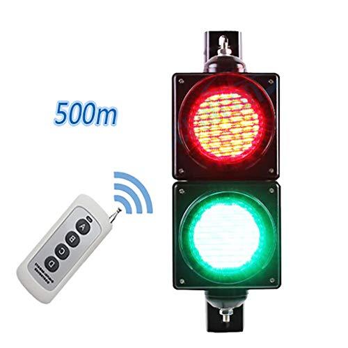 RuBao Fernbedienung Ampel, Industrielle LED-Ampel Lampe w / 3 Verkehrszeichen, Geeignet für Innen- und Außenbereich, 12-24V / 220V