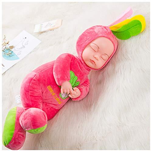 Rocking Horse Talking Simulation Doll Soft Rubber Mädchen Stoffpuppe Kinderspielzeug Puppe Geschlossene Augen Schlaf Baby,Cabbage