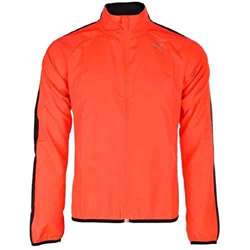 PUMA Chaqueta Cortavientos para Hombre, Ideal para Correr, Correr, Hombre, Color Red Blast, tamaño L