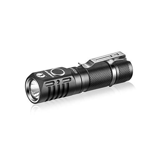 LED Taschenlampe LUMINTOP EDC05 Kleine Tragbare EDC Lampe mit CREE XP-L KW LED Superhell 800 LM 7 Modi Tailcap-Magnet IP68 Wasserdicht für Alltag Outdoor Camping Wandern Angeln Notfälle, Schwarz