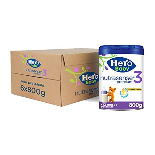 Hero Baby Leche Premium 3 - Para niños a partir de 12 meses - Pack de 6 x 800 gr