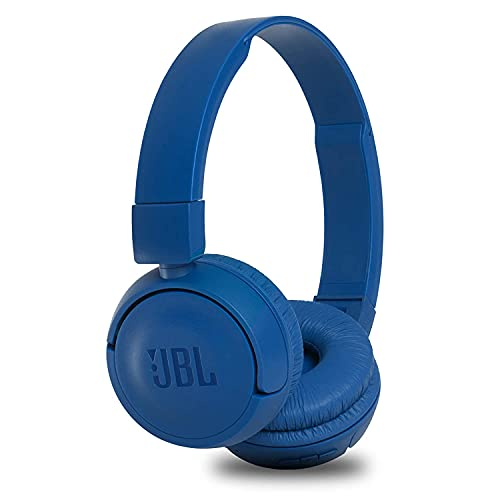 JBL T460BT by Harman, Wireless On Ear Headphones with Mic, Pure Bass, Portable, Lightweight & Flat Foldable, Voice Assistant Support for Mobiles (Blue)
