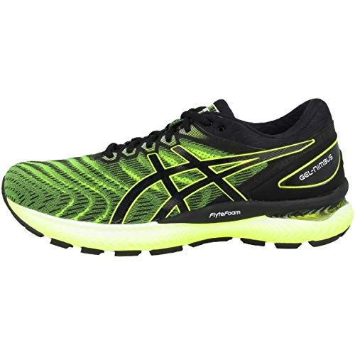 Asics Mens Gel-Nimbus 22 Running Shoe, Safety Yellow/Black, 46 EU