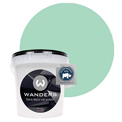 Wanders24 Pintura de pared pintura de pizarra mate (1 litro, Verde Tíbet) lavable, creativo, escribible, pintura de pizarrón