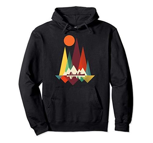 Geometría de montaña mínima Senderismo al aire libre Camping Sudadera con Capucha