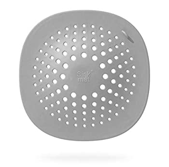 Silicone Drain Strainers 2 Pack Drain Cover Hair Catcher with Suction for Shower Bathroom Kitchen TPR Drain Strainer Protectors Cove  Grey