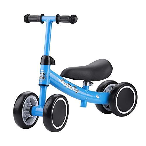 Ohne Fußpedal Balance Fahrrad,Laufrad für Baby Kinder Laufrad 2 Jahre Kinder Laufrad Lauflernrad Kleinkind Fahrrad AB für Kinder 1-3year Balance Car Auto Ausbalancieren Kleinkinder Walker(Blau)
