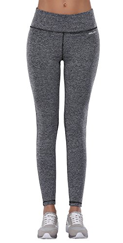 Aenlley Women's Activewear Yoga Pants High Rise Workout Gym Spanx Tights leggings Color Dark Grey Size XS