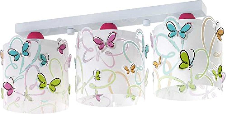 LED Kinderlampe Tiere Schmetterling Butterfly 62143 Warmwei 800lm Mdchen Kinderzimmerlampe Deckenlampe