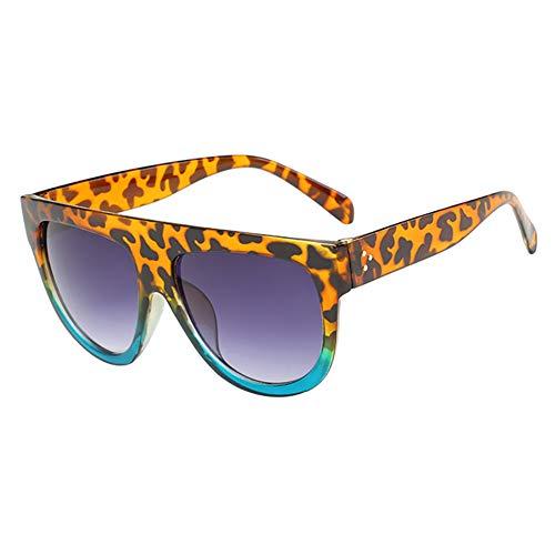Dosige. Moda Caja Grande Gafas de Sol Personalidad Gafas de Sol Tendencia Damas Cara Redonda Gafas de Sol Size 14.5 * 14.1 * 6.4cm (#1)