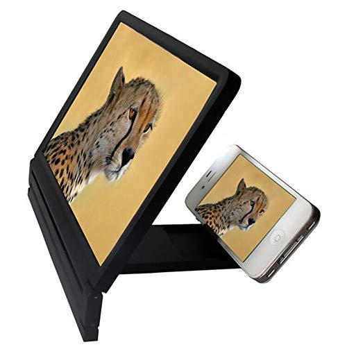 ZFstores Lazy Artifact, 3D vergrootglas Vergrootglas houder, mobiele video vergrootglas, mobiele telefoon, High Definition-versterker voor alle soorten smartphones