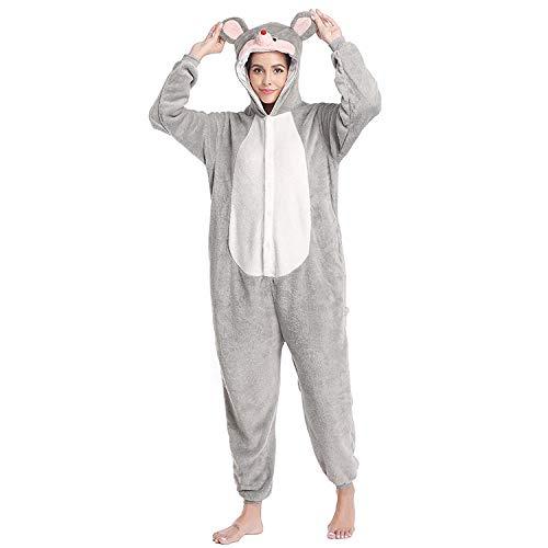 Einteiliger Pyjama Flanell Neuer Cartoon Einteiliger Pyjama Graue Maus Männliches...