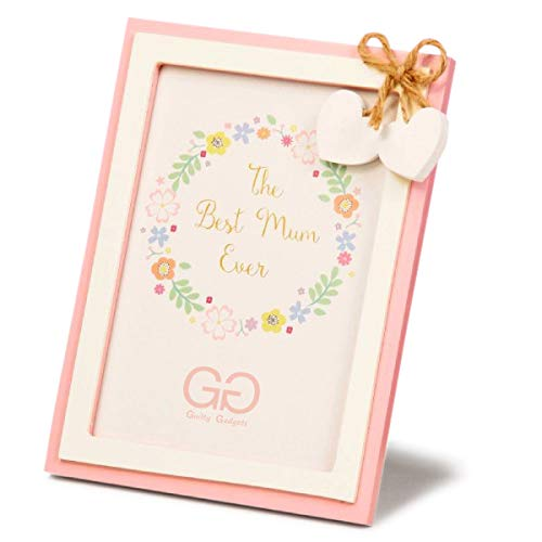 Elegante marco de fotos de 12,7 x 17,8 cm, tamaño estándar para hogar familiar, idea de regalo, regalo de cumpleaños, día de la madre