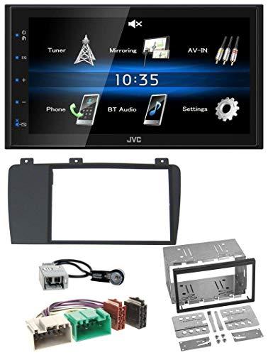 caraudio24 JVC KW-M24BT 2DIN Bluetooth MP3 AUX USB Autoradio für Volvo S60 V70 XC70 04-09