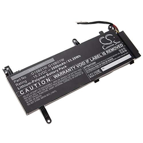 vhbw Battery compatible with Xiaomi Gaming Laptop 8th gen i7Intel, Gaming Laptop i7 gtx 1060 Laptop (3500mAh, 15.2V, Li-Polymer, black)