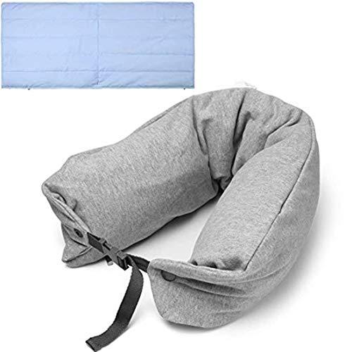 Reisekissen und Decken-Set -2 in 1 Reisekissen/Reisedecke - Ideal für Autos,Züge,Flugzeuge,Camping - Tragbare Faltbare Decke für die Reise