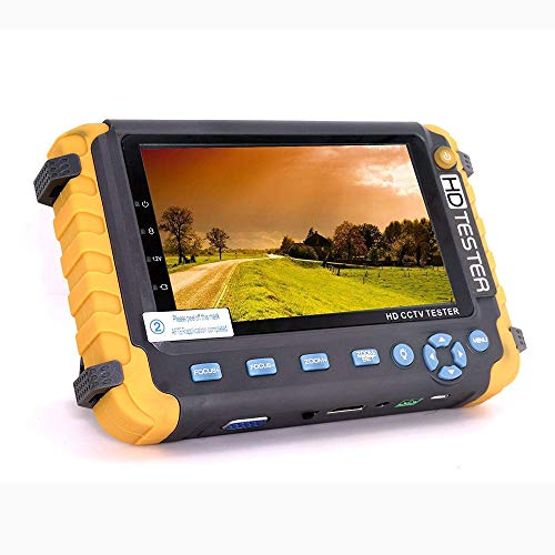 Probador de CCTV 5 en 1 de 4 pulgadas, probador de monitor de video HD coaxial AHD/TVI/CVI, prueba de cable de video analógico/UTP Entrada de VGA/HDMI DC12V probador de cámara de salida