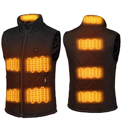 FERNIDA Electric USB Heated Vest Temperature Adjustable (Battery Not Included)