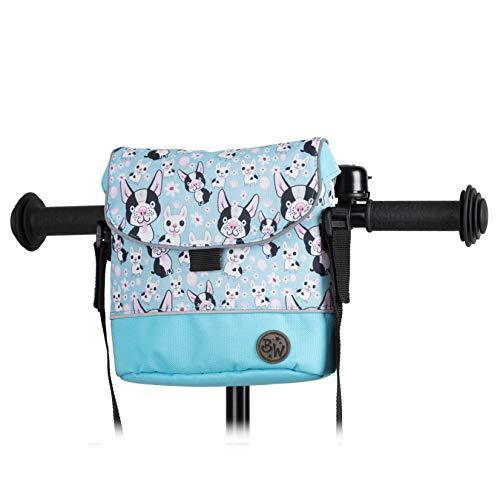 BambinIWelt Lenkertasche für Roller und Fahrrad, Fahrradtasche für Kinder, wasserabweisend, mit Schultergurt,für alle Puky Räder und Roller(Modell 6)
