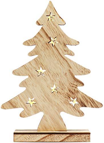 com-four® Árbol LED como iluminación Decorativa - árbol de luz como decoración navideña - árbol de Navidad...