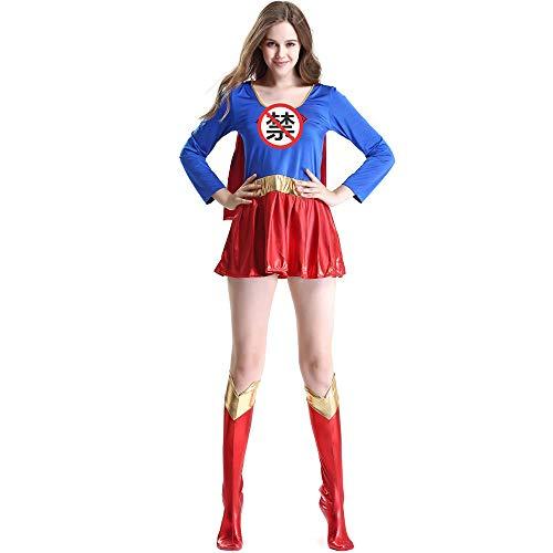 Bodis Lencería para Mujer Disfraz De Halloween Sexy Superwoman Cosplay-como Se Muestra_SG
