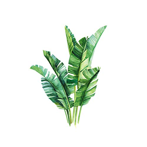 Huangzhiping Wandaufkleber, Motiv: grüne Blätter, Wandaufkleber, DIY, Strand, tropische Palmenblätter