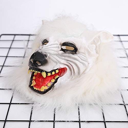 Halloween Horror Props Devil Fancy Dress Ball Mask Full Head Wolf Headgear