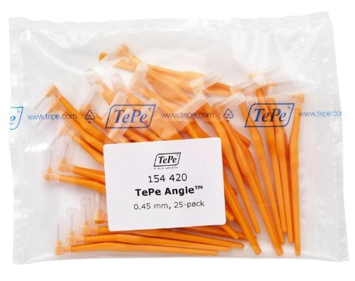 ダニ雹自分のTePe Interdental Brush Angle - Orange 0.45mm 25 Pack by TePe Munhygienprodukter AB, Sweden [並行輸入品]