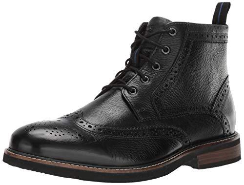 Nunn Bush Men's Odell Wingtip Dress Casual Chukka Boot, Black, 10.5