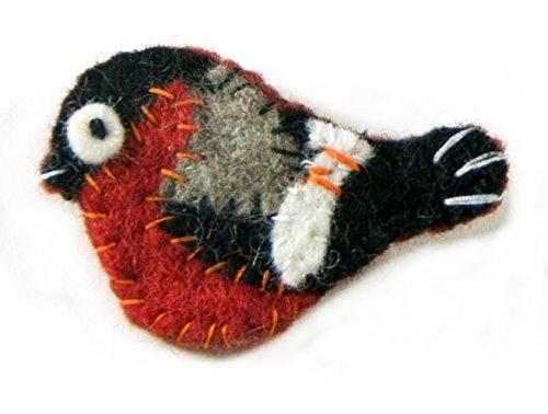 Broche de fieltro con diseño de pájaro