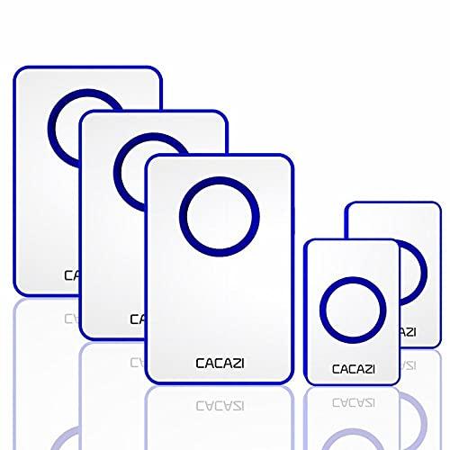 Cargador inalámbrico DC con batería a pilas de 120 m, mando a distancia, 36 timbres, 4 volumen, impermeable para la casa, inteligente, puerta inalámbrica China, 2 botones, 3 receptores.